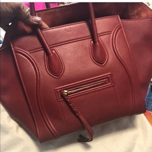 Celine phantom burgundy